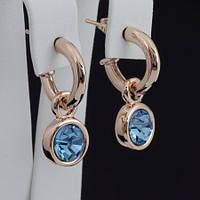 Яркие серьги с кристаллами Swarovski, покрытые слоями золота 0677