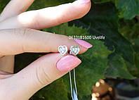 Серебряные гвоздики-сердечки