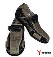 Мужские нубуковые сандали Karat, Черные с оливкой