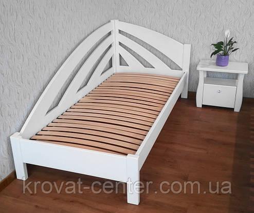 """Кровать белая из серии """"Радуга"""". Массив - ольха, береза, дуб., фото 2"""