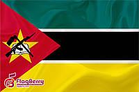Флажок  Мозамбика 13,5*25 см., плотный атлас