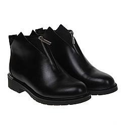 Ботинки женские Gelsomino (черные, стильные, модные, с замочком в передней части)