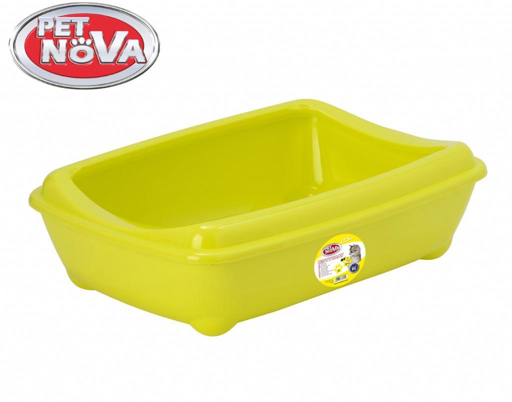 Туалет для котов с бортиком Pet Nova KittyTray 50 см желтый