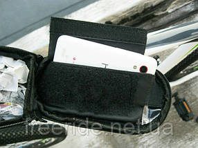 Велосумка на раму под смартфон 5.5'' (с синим боком), фото 2