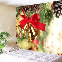 Настенный Декор Рождественские Колокола Печати Гобелен ширина59дюймов*длина51дюйм