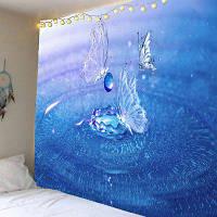 Настенный Воду Напечатано Гобелен Бабочки ширина59дюймов*длина51дюйм