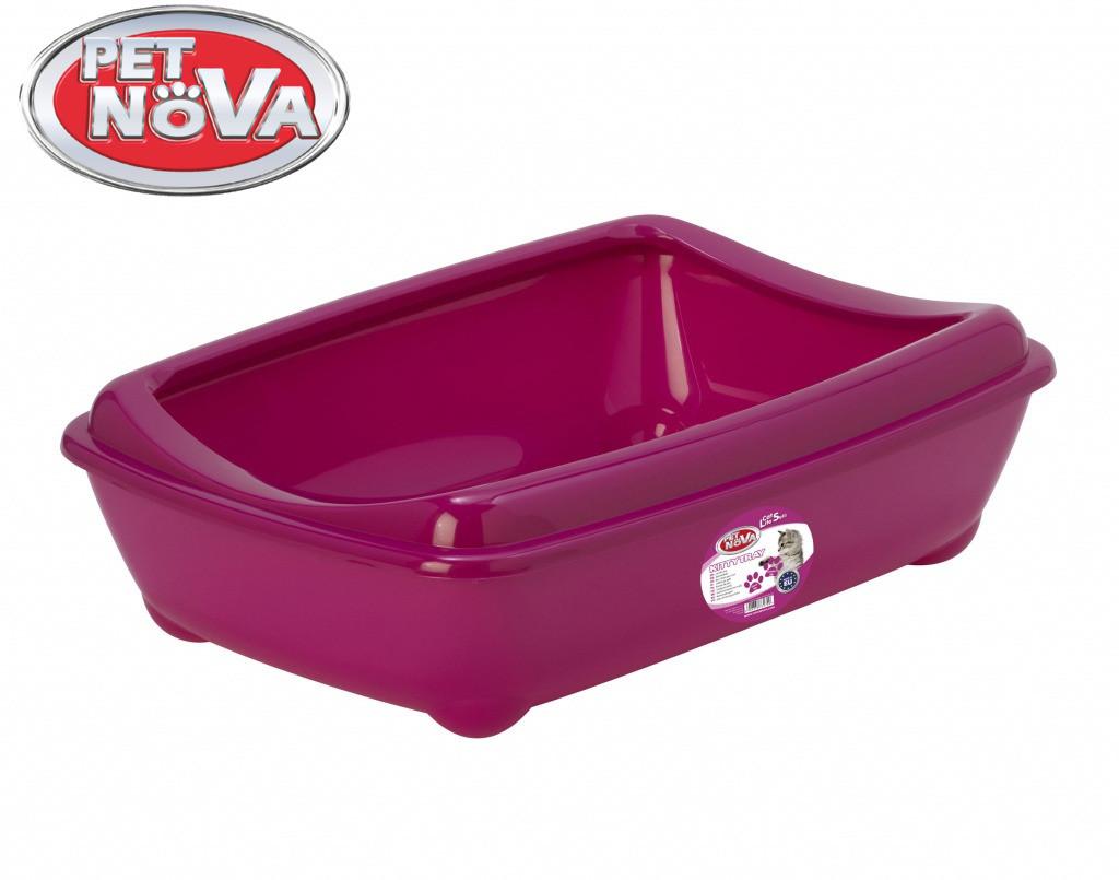 Туалет для котов с бортиком Pet Nova KittyTray 57 см розовый