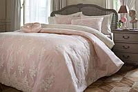 Турецкий люксовый набор покрывало с наволочками ТМ Pepper Home Tiffany crem
