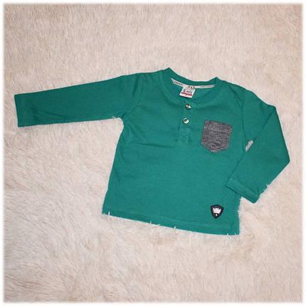 Реглан детский на мальчика зеленый Турция размер 80, фото 2