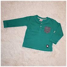 Реглан детский на мальчика зеленый Турция размер 80 92