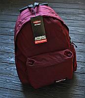 Рюкзак EASTPAK бордовый Топ Реплика Хорошего качества