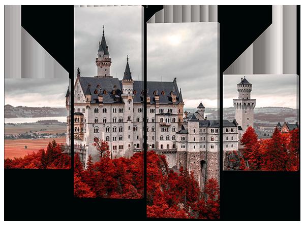 Панно из частей Белый Замок Нойшванштайм.Германия