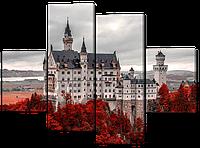 Панно из частей Белый Замок Нойшванштайм.Германия 126* 93 см