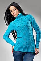 Женский свитер с ажурным узором, фото 1