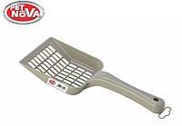 Лопатка для наполнителя PetNova размер L серый