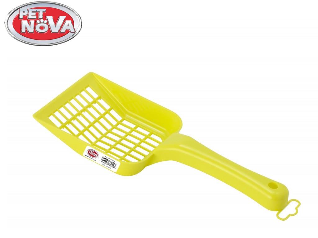 Лопатка для наполнителя Pet Nova размер L желтый