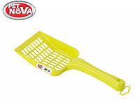 Лопатка для наполнителя PetNova размер L желтый