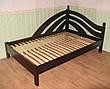 """Белая полуторная кровать """"Радуга"""". Массив - ольха, береза, дуб., фото 5"""