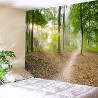 Настенный Декор По Лесной Тропе, Принт Гобелен ширина59дюймов*длина51дюйм