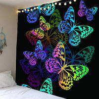 Красочный Бабочка Шаблон Водонепроницаемый Стене Висит Гобелен ширина59дюймов*длина51дюйм