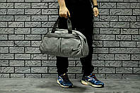Серая Спортивная сумка найк (Nike), текстиль