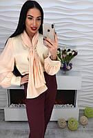 Шикарная шифоновая блузка с галстуком , фото 1