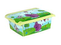Ящик для игрушек Prima Baby Hippo 10 л