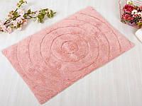Коврик в ванную Irya Waves розовый 70*120