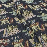 Гобелен ткань, котята и собачки