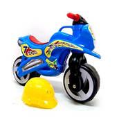 Каталка Мотоцикл с каской 2 цветов КВ /1/(11-007)