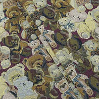 Гобелен ткань, мишки тедди