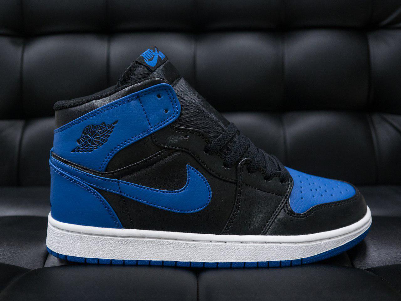 c3bd15244dd2 Мужские кроссовки Nike Air Jordan Retro (в стиле Найк Аир Джордан)  черно-синие