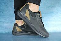Мужские кроссовки Ecco черно – оливковые топ реплика