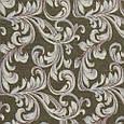 Гобелен ткань, вензель, тёмно-оливковый, фото 2
