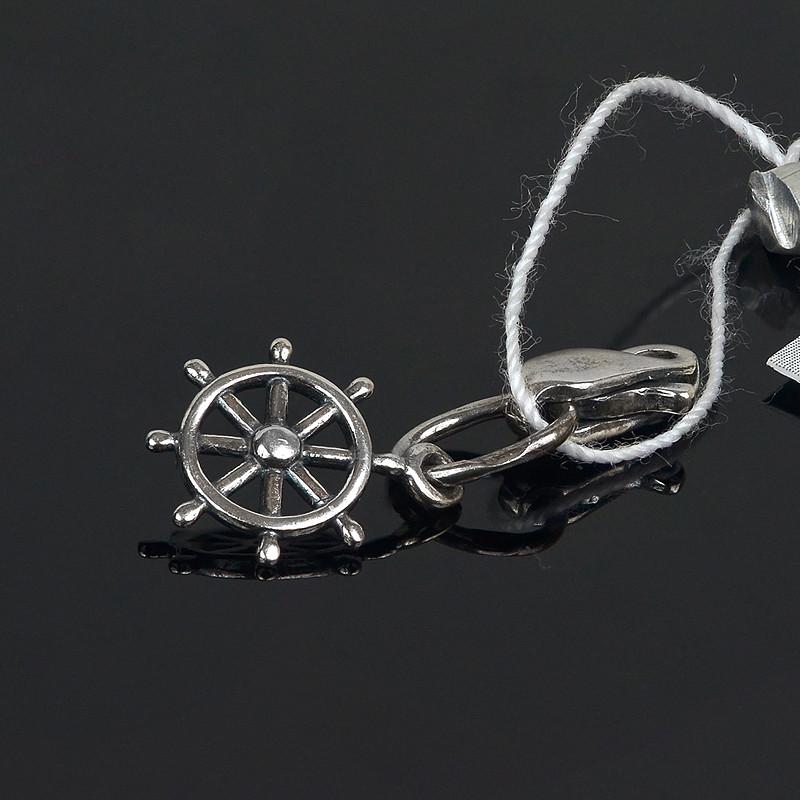 Подвеска на браслет Штурвал с замком карабин