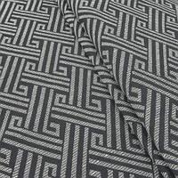 Гобелен ткань, орнамент, молочно-чёрный