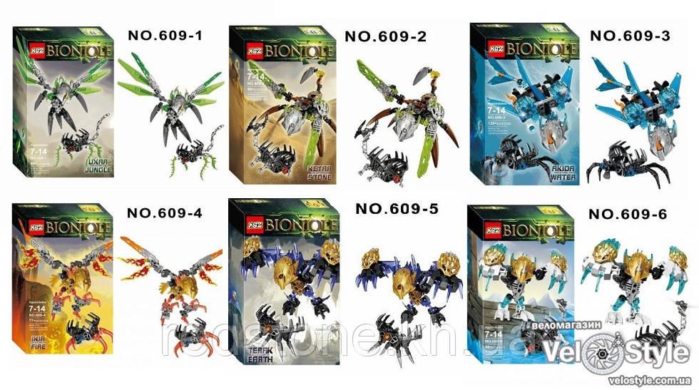 Конструктор KZC Bionicle 609 ((LEGO BIONICLE) 6 видов