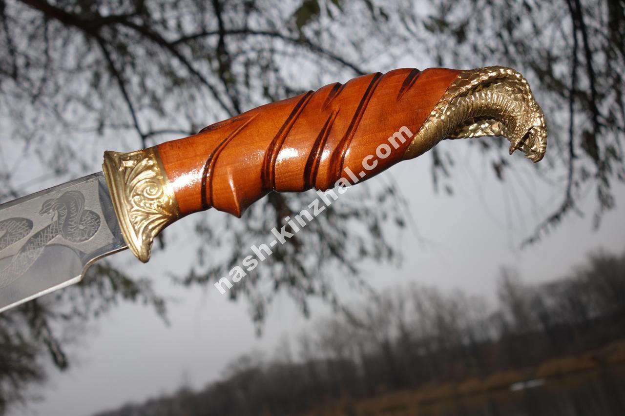 Нож охотничий Кобра, ручная работа, кожаный чехол в комплекте