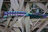 Нож бабочка CS Go, балисонг хамелеон, супер подарок для парня, фото 1