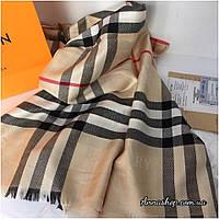 Палантин, шарф под Барбери, цвет бежевый, реплика
