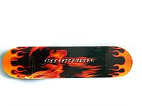 Скейт детский (подростковый) FIRST FIRE 3108 (черно-оранжевый)