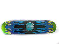 Скейт детский (подростковый) FIRST FIRE 3108 (сине-зеленый)