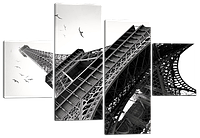 Модульная картина Эйфелева Башня, Париж  166*114 см