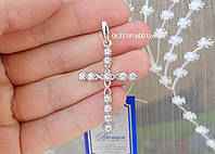 Серебряный крестик в камнях