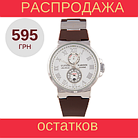 Стильные наручные часы Ulysse Nardin Marine Chronometer Brown White, фото 1