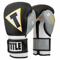 Оригинальные Боксерские Перчатки TITLE Icon I-tech Training Gloves - Black/Grey/White