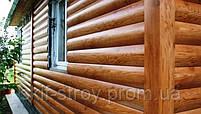 Металлический сайдинг блок хаус (имитация бревна, сруба, бруса), фото 2