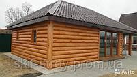 Металлический сайдинг блок хаус (имитация бревна, сруба, бруса), фото 3