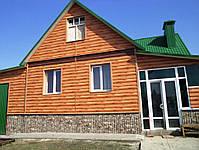 Металлический сайдинг блок хаус (имитация бревна, сруба, бруса), фото 5