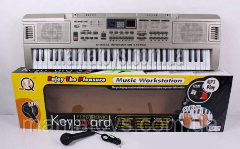Дитяче Піаніно, синтезатор MQ816 з USB і мікрофоном 61 клавіша 70см.